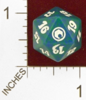 Dice : D20 OPAQUE ROUNDED SPECKLED MTG LIFE COUNTERS SCARS OF MIRRODIN 05