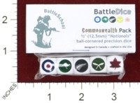 Dice : MINT44 BATTLESCHOOL BATTLEDICE NATIONALS COMMONWEALTH PACK