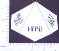 Dice : PAPER D10 MY DESIGN TWILIGHT 2000 HIT LOCATION 01