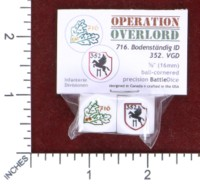 Dice : MINT50 BATTLESCHOOL OPERATION OVERLORD GERMAN 716 AND 352