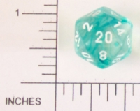 Dice : D20 CLEAR ROUNDED SWIRL CHESSEX NEBULA 02