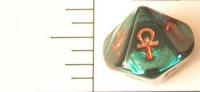 Dice : D10 OPAQUE ROUNDED IRIDESCENT GREEN