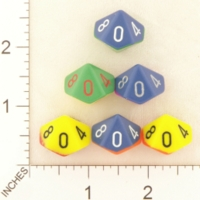 Dice : D10 OPAQUE ROUNDED CHESSEX 2TONE 01