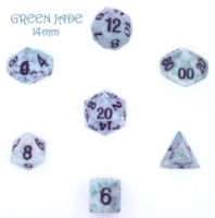 Dice : STONE MULTI CRYSTAL CASTE JADE GREEN 02