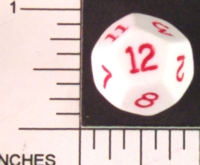 Dice : D12 OPAQUE ROUNDED SOLID 4