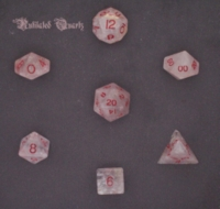 Dice : STONE MULTI CRYSTAL CASTE QUARTZ RUTILATED 01