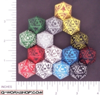 Dice : D20 OPAQUE ROUNDED SOLID Q WORKSHOP CALL OF CTHULHU 01