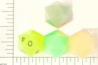 Dice : D20 TRANSLUCENT SHARP SOLID 1