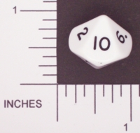 Dice : D10 OPAQUE ROUNDED SOLID FAMILY LEARNING 04
