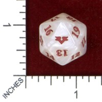 Dice : D20 OPAQUE ROUNDED IRIDESCENT MTG LIFE COUNTER ANGELS