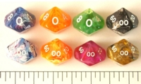 Dice : D10 OPAQUE ROUNDED SWIRL 1