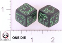 Dice : NUMBERED OPAQUE ROUNDED SOLID Q WORKSHOP CTHULHU DICE OF DOOM 01