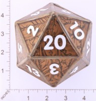 Dice : LOOSE GLASS CREATIONS STAINED GLASS D20 01