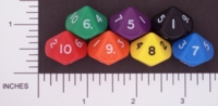 Dice : D10 OPAQUE ROUNDED SOLID FAMILY LEARNING 02