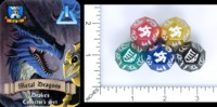 Dice : MINT58 SFR LEVEL UP DICE METAL DRAGONS DRAKES COLLECTOR SET