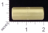 Dice : MINT19 ACE PRECISION D12 BRASS STICK NUMBERED 01