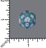 Dice : D20 MTG OPAQUE ROUNDED SPECKLED WIZARDS OF THE COAST MTG ORIGINAL LOTUS 05