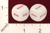 Dice : MINT19 KOPLOW POLISH WORDS FOR NUMBERS 01