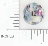 Dice : D12 OPAQUE ROUNDED SWIRL CHESSEX AMAZING COLORS BKTRADE 01
