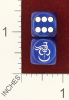 Dice : MINT25 CHESSEX CUSTOM FOR JSPASSNTHRU SNOWMAN 01