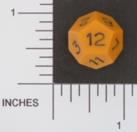 Dice : D12 OPAQUE SHARP SOLID ARMORY 01