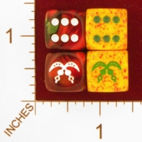 Dice : MINT25 CHESSEX CUSTOM FOR EBAY RACERSKA ADINKRA AKOFENA SWORD OF WAR 01