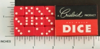 Dice : MINT1 CRISLOID RED 12 HALF 01