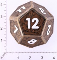 Dice : LOOSE GLASS CREATIONS STAINED GLASS D12 01