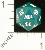 Dice : D20 OPAQUE ROUNDED SPECKLED MTG LIFE COUNTERS M12 05