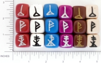 Dice : NON NUMBERED OPAQUE ROUNDED SOLID DIVINATION 03
