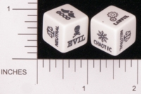 Dice : NON NUMBERED OPAQUE ROUNDED SOLID CHESSEX GM UTILITY ALIGNMENT 01