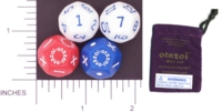 Dice : D12 OPAQUE ROUNDED SOLID MULTI 01 OTAZOI