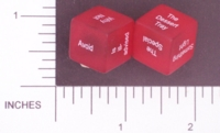 Dice : NON NUMBERED TRANSLUCENT ROUNDED SOLID DESTINY DICE MAKE UP YOUR MIND 01