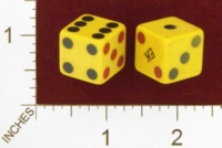 Dice : MINT24 UNKNOWN CELLULOID MONOGRAMMED WITH EK