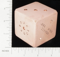 Dice : METAL COPPER D6 05 JETCO