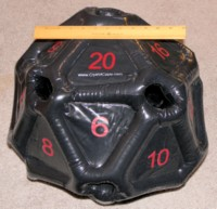 Dice : MINT28 CRYSTAL CASTE INFLATABLE D20 01