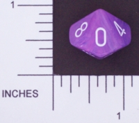 Dice : D10 OPAQUE ROUNDED SWIRL CHESSEX WILD 01