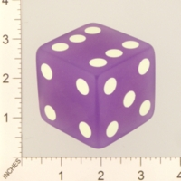 Dice : MINT21 CRISLOID PURPLE TRANSLUCENT 01