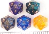 Dice : D20 OPAQUE ROUNDED IRIDESCENT CC VOID