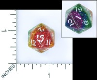 Dice : MINT54 LITTLECLUUS GLITTER RAINBOW D20
