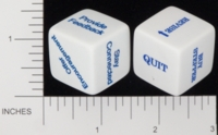 Dice : NON NUMBERED OPAQUE ROUNDED SOLID GAMESTATION CHEF ROB 02