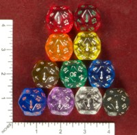 Dice : D30 CLEAR ROUNDED SOLID ARMORY