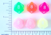 Dice : D8 TRANSLUCENT ROUNDED SOLID 1