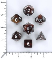 Dice : MINT54 METALLIC DICE GAMES TIGERS EYE RED