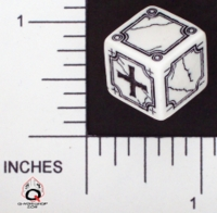 Dice : NON NUMBERED OPAQUE ROUNDED SOLID Q WORKSHOP FUDGE 01