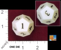 Dice : D12 OPAQUE SHARP SOLID UNIVERSITY GAMES SMART ASS D4 01