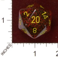 Dice : D20 OPAQUE ROUNDED SPECKLED CHESSEX MERCURY JUMBO 01