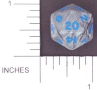 Dice : D20 OPAQUE ROUNDED IRIDESCENT 3