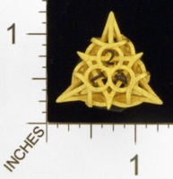 Dice : MINT23 SHAPEWAYS CERAMICWOMBAT THORN GOLD DIE4