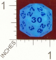 Dice : MINT24 SHAPEWAYS DIZINGOF BIG RHOMBIC TRIACONTAHEDRON D30 01